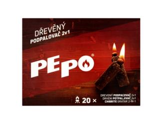 PE PO dřevěný podpalovač 20ks