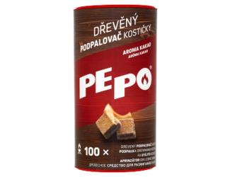 PE PO dřevěné kostičky (100ks/kra) kakao