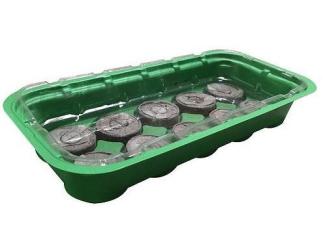 Minipařeniště 55x16x7 cm + 20 kokosových tablet 3,5 cm