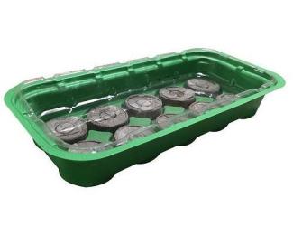 Minipařeniště 26x12,5x4 cm + 10 kokosových tablet 3,5 cm