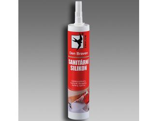 DEN BRAVEN sanitární silikon 310ml bílý