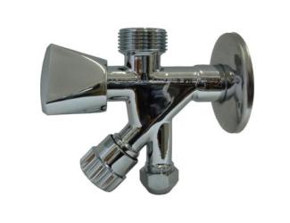 """STENO kombinovaný ventil 1/2""""x3/4""""x3/8"""""""