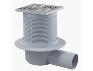 ALCA PLAST APV31 Podlahová vpusť 105x105/50 mm boční, mřížka nerez