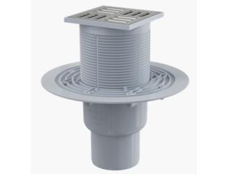 ALCA PLAST APV2321 Podlahová vpusť 105x105/50/75 mm přímá, mřížka nerez