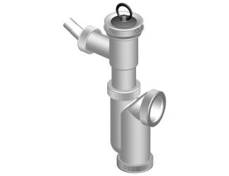Sifon dřezový s výpustí a přípojkou odpad 50/40mm