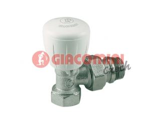 """GIACOMINI R421TG Termostatický ventil rohový s ruční hlavou 1/2"""""""