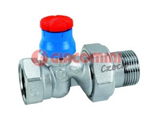 GIACOMINI  R402TG Termostatický ventil, přímý s víčkem