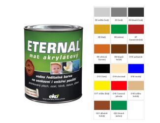 ETERNAL Barva mat akryl 0.7kg červená